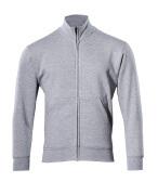 51591-970-08 Sweatshirt mit Reißverschluss - Grau-meliert